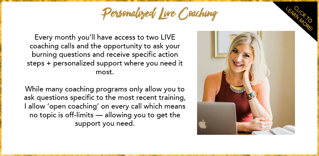 Personalized LIVE Coaching